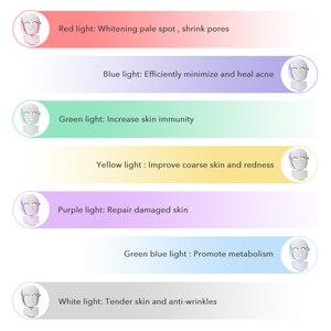 Image 2 - 7 Colors Led Mask Skin Rejuvenation Photon Light Therapy Anti Aging Face Mask Korean Beauty Machine Whitening Neck Skincare Tool