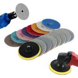 16pcs Sanding Grinding Disc Wet Diamond Polishing Pads Tile Marble Granite Polisher Flexible Stone Ceramic Hand Tools Sandpaper
