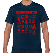 Tops T Shirt Men Warning Signs 101 Funny Auto Mechanic For O-Neck Vintage Cotton Male Tshirt