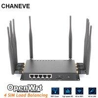 CHANEVE QCA9531chipset grado industriale LTE bilanciamento del carico Wi-Fi router con 4 slot per SIM card 4G router wireless