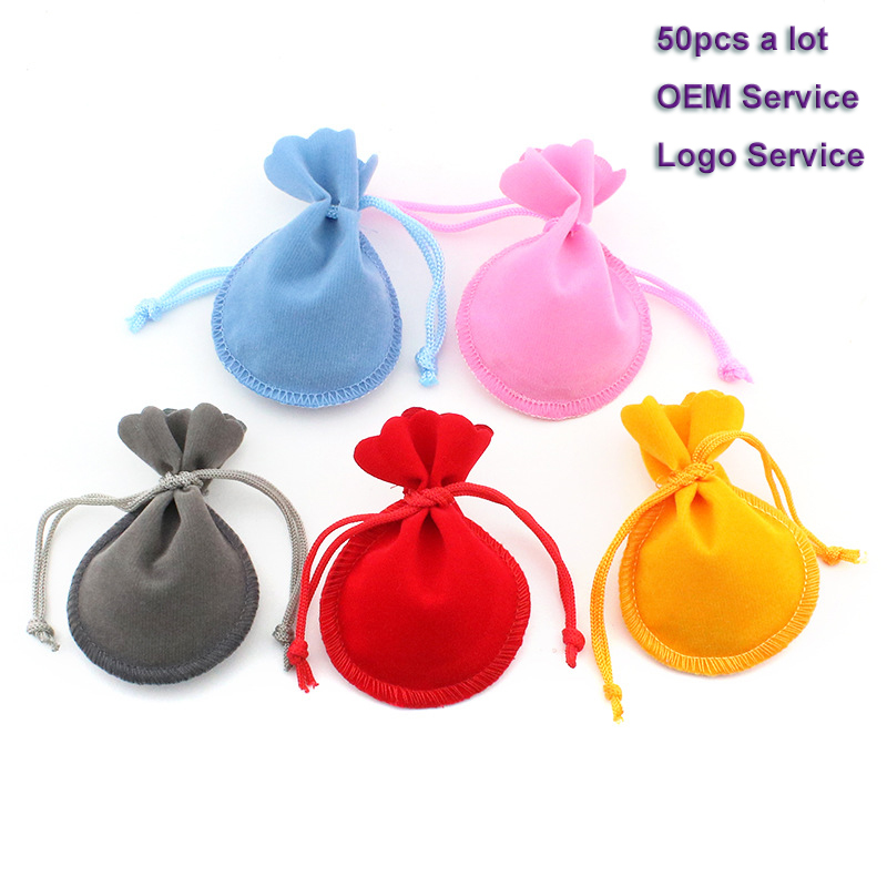 Velvet Packing Bag Drawstring Gift Bag 50pcs/Lot 7x9 9x12 Used For Wedding Candy Cake Bag Advertising Bag  Jewelry Pouch