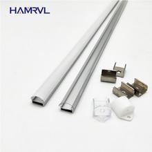 10 100M Veel, 1M Per Stuks, Led Aluminium Profiel Voor 5050/5630 Strips HR AP1509, platte Behuizing Gratis Verzending Milky Clear Cover