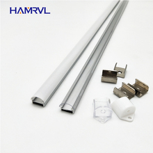 10 100m a lot, 1m per pcs, led aluminum profile for 5050/5630  strips HR AP1509, flat  housing free shipping milky clear cover