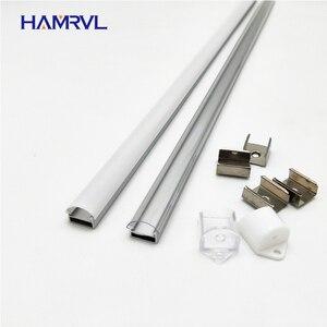Image 1 - 10 100m muito, 1m por pces, perfil de alumínio led para 5050/5630 tiras HR AP1509, habitação plana frete grátis leitoso capa clara
