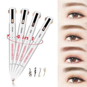 4 in 1 Eyebrow Pencil Waterproof Drawing Eye Brow Pencil Long Lasting Easy Color Eyebrow Pen Women Makeup Cosmetic Tool TSLM1 https://gosaveshop.com/Demo2/product/4-in-1-eyebrow-pencil-waterproof-drawing-eye-brow-pencil-long-lasting-easy-color-eyebrow-pen-women-makeup-cosmetic-tool-tslm1/