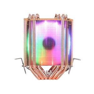 Image 4 - 6 أنابيب الحرارة RGB وحدة المعالجة المركزية برودة المبرد تبريد 3PIN 4PIN 2 مروحة ل إنتل 1150 1155 1156 1366 2011 X79 X99 اللوحة AM2/AM3/AM4