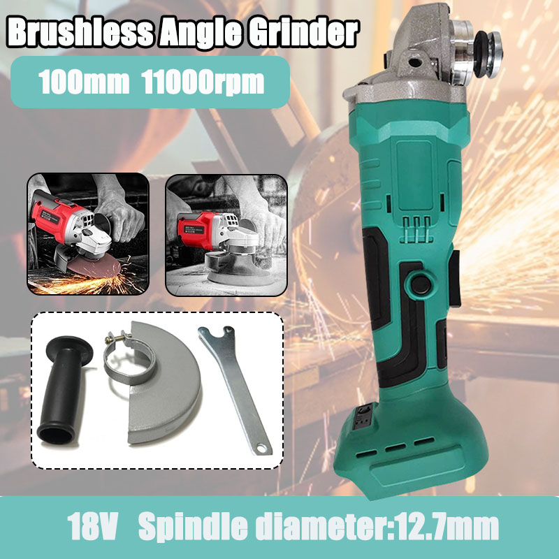 18V 800W Brushless Cordless Impact Angle Grinder Without Makita Battery For Home DIY Power Tool Cutting Grinding Machine Polishe