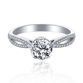 1 Carat 18k Gold And White Gold Diamond Ring Platinum Engagement Ring