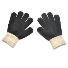 TELOTUNY, детские зимние утепленные вязаные перчатки, детские плюшевые бархатные фланелевые теплые перчатки, варежки wanten kinderen ZS26