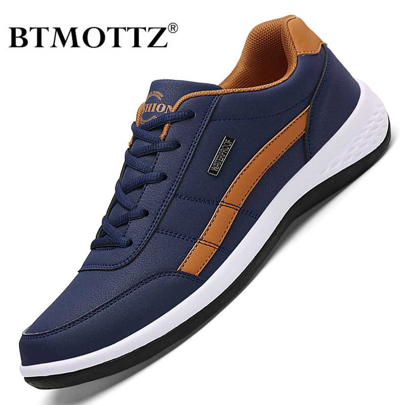 Leather Men Shoes Luxury Brand England Trend Casual Shoes Men Sneakers Italian Breathable Leisure Male Footwear Chaussure Homme(China)