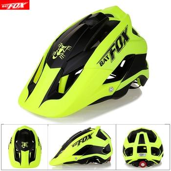 BATFOX Cycling Helmet Women Men Bicycle Helmet MTB Bike Mountain Road Cycling Safety Outdoor Sports Lightweight Big Visor Helmet 1