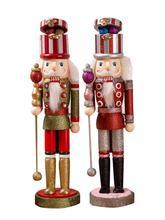 Drewniany dziadek do orzechów lalka boże narodzenie dziadek do orzechów ręcznie malowane Retro figurki żołnierzy lalek wystrój bożonarodzeniowy prezent dla domu Party tanie tanio Zwierząt Nowoczesne Z tworzywa sztucznego Nutcracker Doll Soldier puppet Christmas Gift Decoration Hemu environmental paint