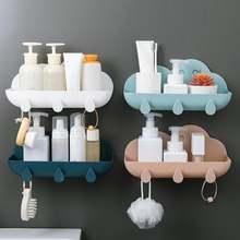 Настенная полка в форме облака для кухни и ванной хранения держатель