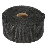 10m Fiberglass Wrap Exhaust Heat Wrap Roll Insulating Pipe Durable High Heat Shield Tape for Motorcycle Car with 6 Ties