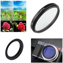 40.5mm UV Filtre ve Filtre Adaptör Halkası Panasonic Lumix LX10 LX15 TZ200 TZ220 ZS200 ZS220 TX2 ZS100 TZ100 kamera