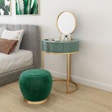 Круглый туалетный столик в скандинавском стиле со стулом набор