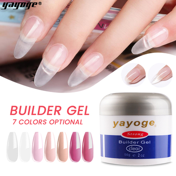 Yayoge 56ml Nail Builder Gel Nails Extension Soak off UV Gel Polish Acrylic Poly Nail Gel Art for Finger Extension gelike 60g uv gel poly gel nails polygels nails builder poligel nails extension acrylic nail art crystal uv resin builder