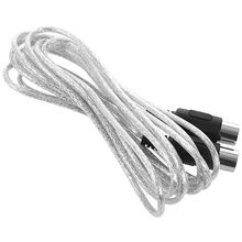 Newest 3 meter 10ft MIDI Extension Cable 5 Pin Plug Male To Male Connector Silver
