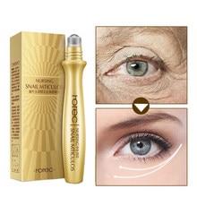 Crème pour les yeux d'escargot, sérum pour les yeux Anti-rides, Anti-boursouflure, ridules, cernes, Anti-âge, patchs oculaires hydratants, Massage à l'essence des yeux