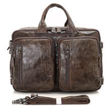 Vintage Men Genuine Leather Soft Handle Men Bag Leather Men Bag Genuine Leather Bags for Men cheap Cow Leather Interior Zipper Pocket Interior Compartment Silt Pocket Solid