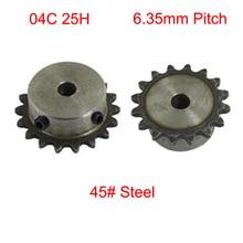 Sprocket-Wheel Chain-Drive Simplex-Gear Pilot 04C Screw-Hole Single Row Pitch 10mm 19