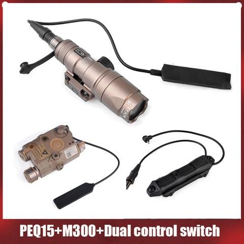 elemento surefir airsoft surefir m300 mini scout luz peq 15 la5c ir laser vermelho duplo