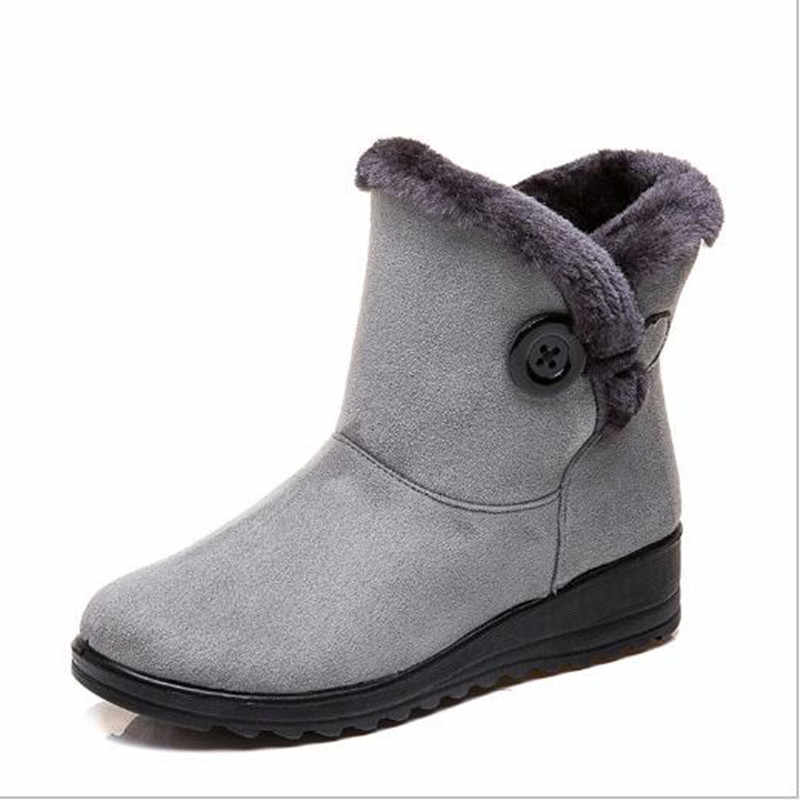 35-43New fur one snow Boots Female Large size Short tube Winter ladies Short Boots plus Cotton Boots warm Women's Cotton Shoes