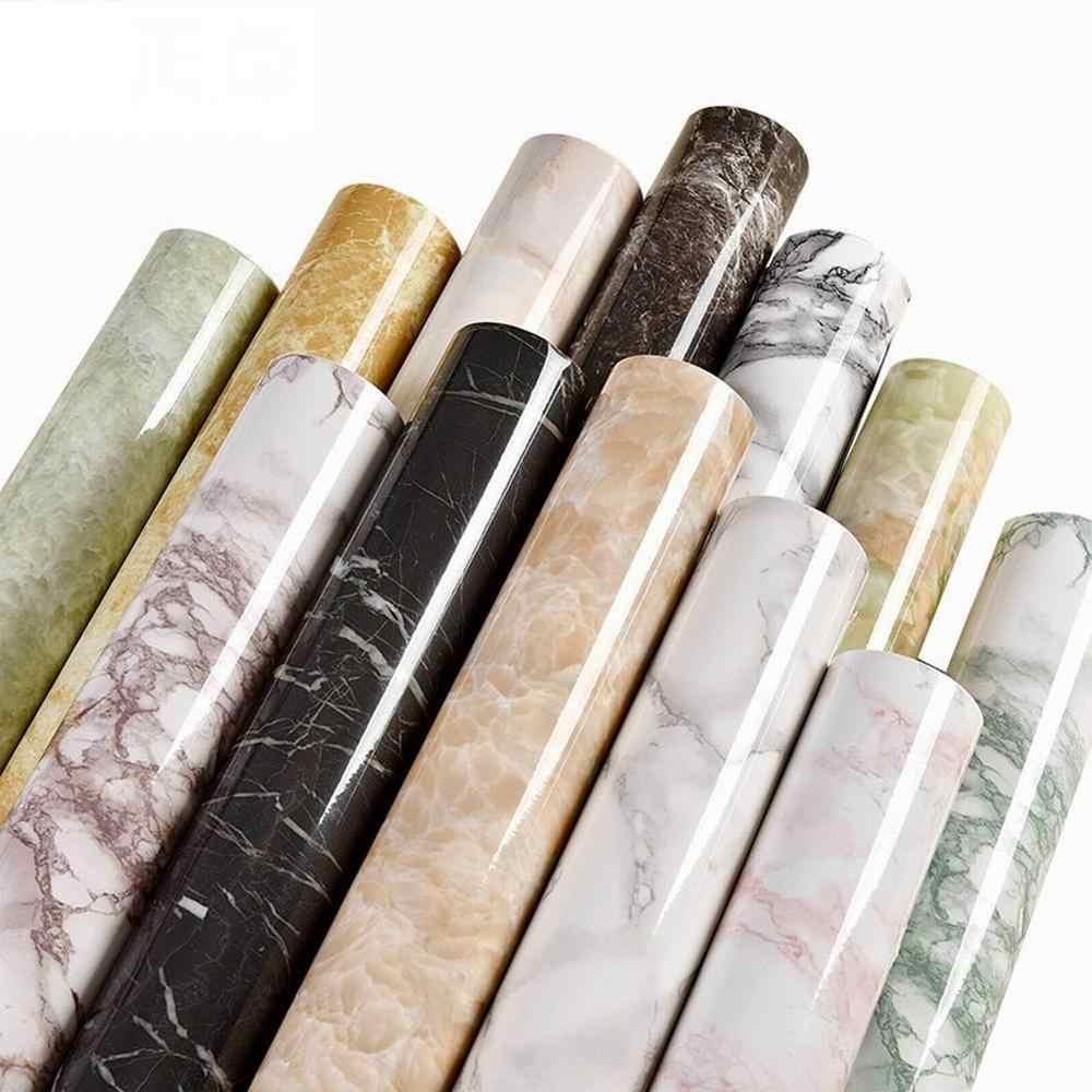 1 м современная мебель для гостиной, Настольная Водонепроницаемая мраморная настенная бумага, виниловая самоклеящаяся контактная бумага, однотонный домашний декор