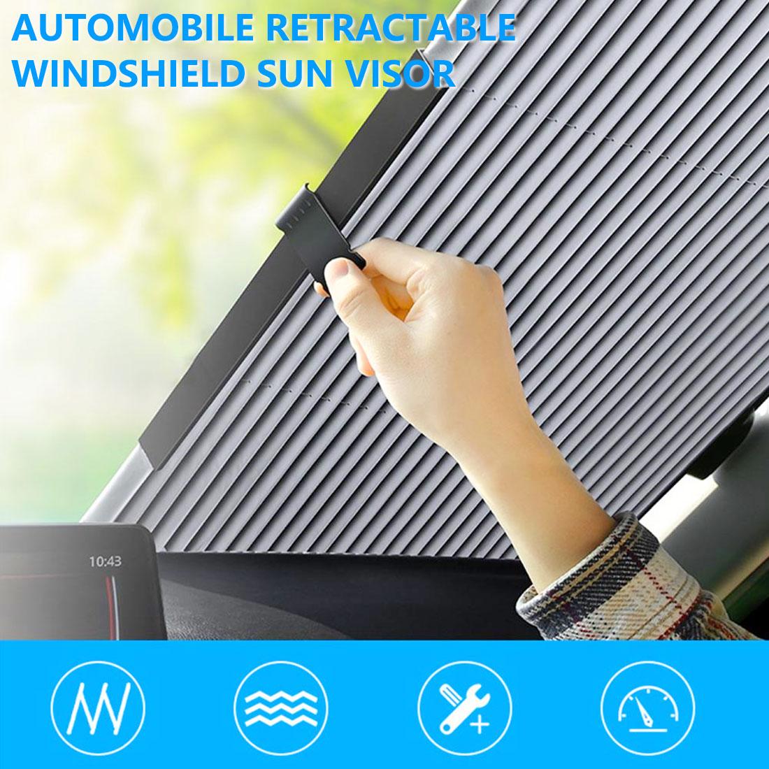 46/65/70/80cm Car Retractable Windshield Anti-UV Car Window Shade Car Front Sun Block Auto Rear Window Foldable Curtain Sunshade