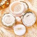 Сверкающий Кристалл контроль масла свободная пудра Настройка макияжа водостойкая долговечная натуральная осветляющая кожа мягкая пухова...