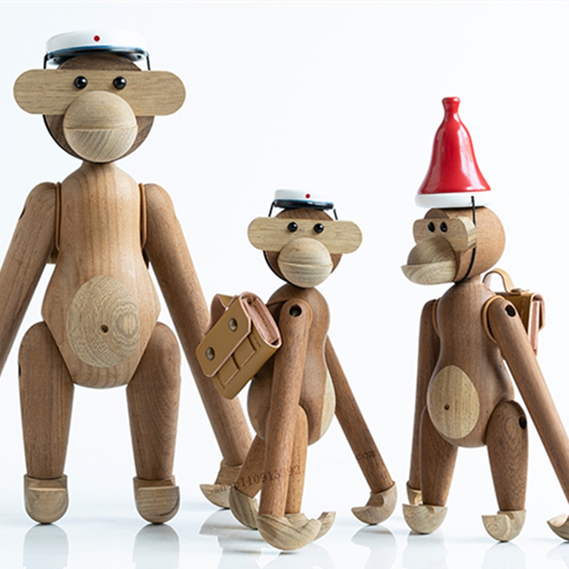 Handmade Wooden Figurine Animal Kids Room Bedroom Living Room Home Decoration Accessories Ornaments Holiday Kids Toys Sculpture