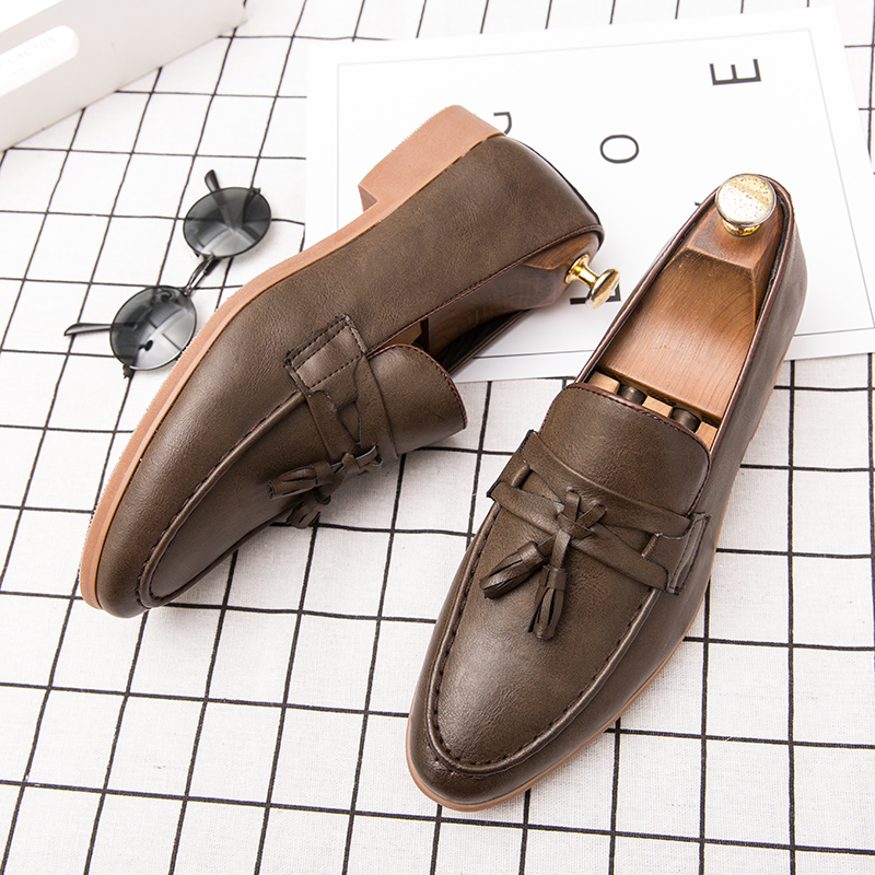 H7b9f439d2de245cf9cfd842d576244e0y Summer Outdoor light soft Leather Men Shoes Loafers Slip On Comfortable Moccasins Flats Casual Boat Driving shoes size 38-47