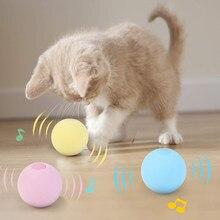 Brinquedos de gato inteligente interativos bola catnip gato brinquedo de treinamento animal de estimação jogando bola pet squeaky suprimentos produtos brinquedo sons animais bola