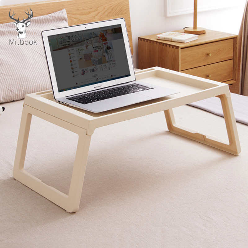 Foldable Laptop Table Stand Home Office Computer Reading Kids Study Table Notebook Bed Table Anti-Skid Table Stationery Holder