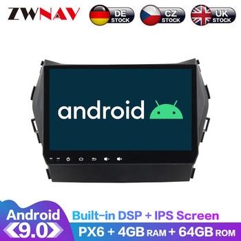 цена на Android 9 IPS Screen PX6 DSP For Hyundai IX45 Santa fe 2013 - 2017 Car No DVD GPS Multimedia Player Head Unit Radio Audio Stereo