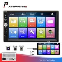 AMPrime 2 Din Car Radio 7 Autoradio 7012B Bluetooth Car Multimedia Player MirrorLink FM Radio Car USB Auto Audio Stereo Camera