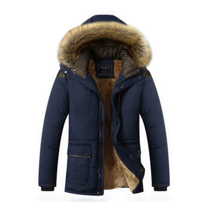 Men 2019 Winter New Casual Warm Thick   Parkas   Men New Luxury Outwear Windproof Waterproof Hooded   Parkas   Coat Men