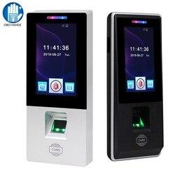 Сенсорная RFID Клавиатура контроля доступа отпечатков пальцев Биометрический пароль посещаемость времени машина считыватель карт USB для офи...