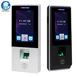 Touch RFID Access Control Keypad Fingerprint Biometric Password Time Attendance Machine Card Reader USB for Office Use