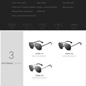 Image 5 - VEITHDIA Marke männer Vintage Sonnenbrille Edelstahl Sonnenbrille Platz Polarisierte UV400 Objektiv Männlichen Brillen Zubehör Für Männer