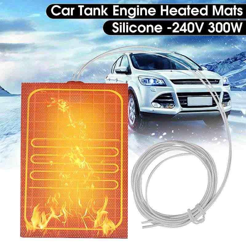 300 Вт 240 в двигатель силиконовый Нагреватель Pad универсальное моторное масло для автомобилей топливный бак резиновая нагревательная панель согревающие аксессуары 10x15 см