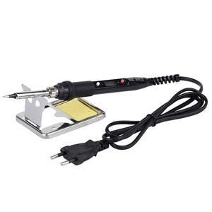 Image 2 - JCD 80W LCD מלחם 220V 110V מתכוונן טמפרטורת ריתוך הלחמה תיקון כלי קרמיקה חום הלחמה ברזל טיפים ערכות