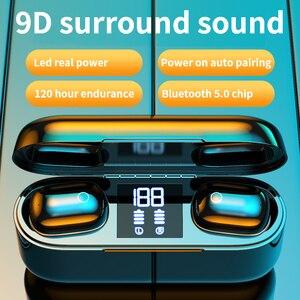 Image 4 - 2020 nowe słuchawki TWS Bluetooth słuchawki bezprzewodowe 2500mAh zestaw słuchawkowy LED 9D słuchawki hi fi Sport wodoodporne słuchawki douszne