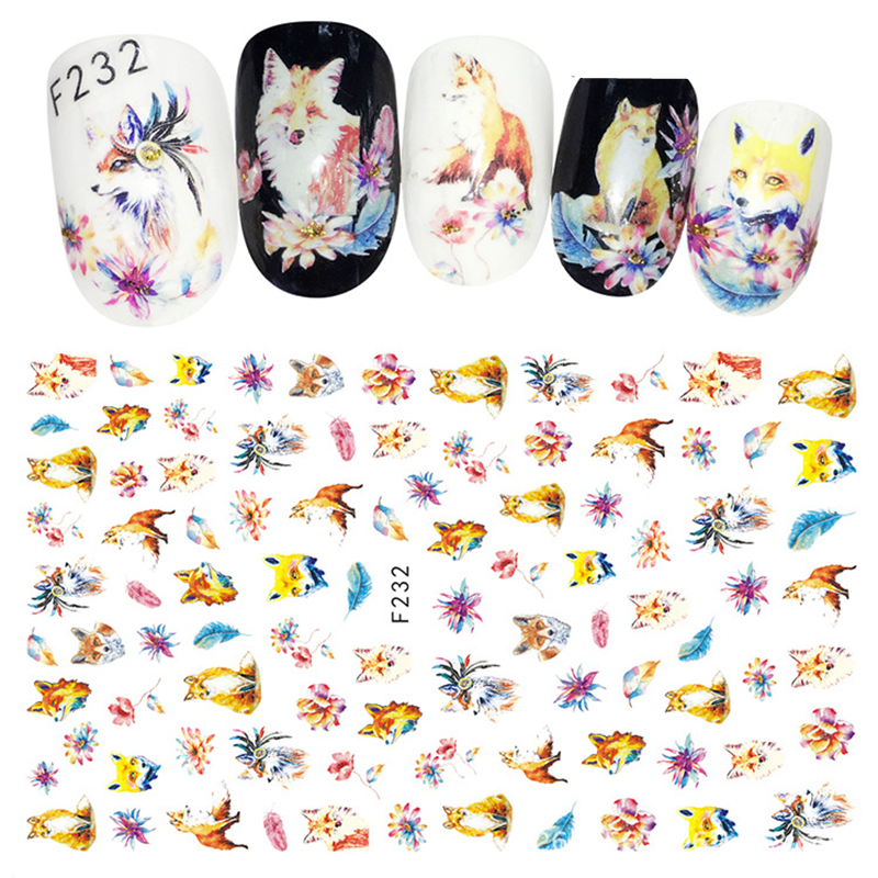 2021 New 3D Nail Stickers For Nails Pop Cartoon Pattern Sliders For Nails Adhesive DIY Manicure Tips Nail Art Sticker