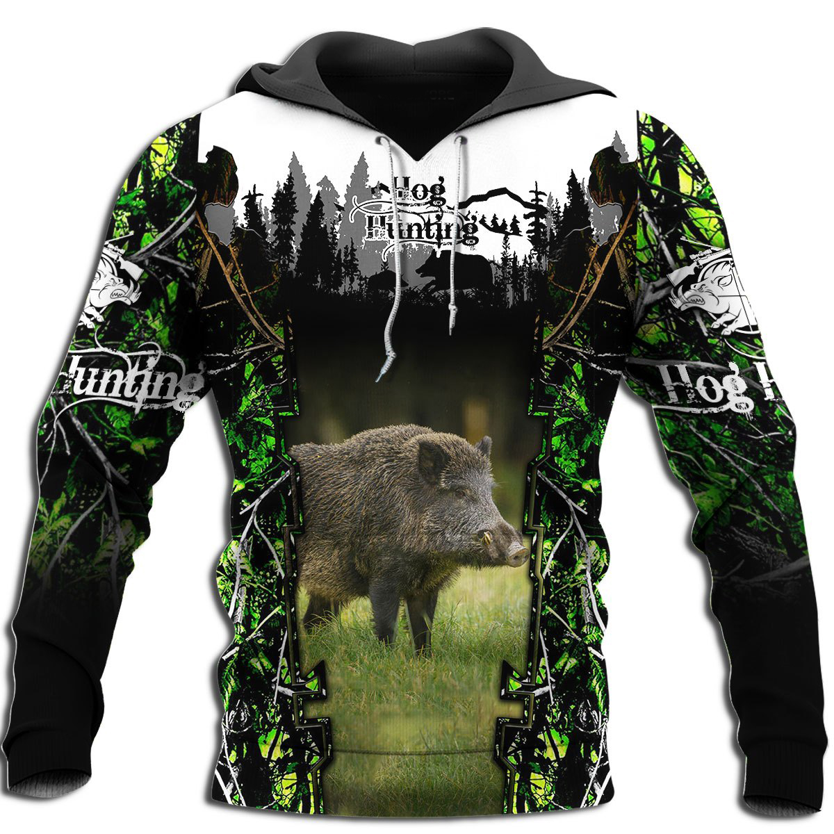 Drop shipping Hog Hunting Animal 3D All Over Printed Mens Hoodie Harajuku Fashion Sweatshirt Unisex Casual Pullover KJ033