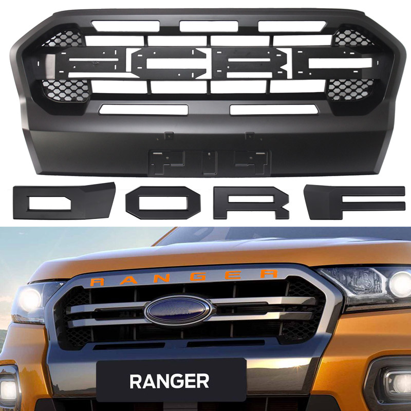 Raptor Grille Modified Grill Front Bumper Mesh Fit For RANGER 2018 2019 T8 PX MKIII MK3 WILDTRAK Pickup Trucks