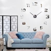 2020 חדש Metall Moderne 3D DIY קיר שעון אקריליק מתכת מראה עיצוב הבית סופר גדול 130 cm x 130 cm מפעל