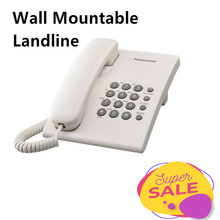 KX-TS500 Single Line Telephone Corded Phone With PABX Wall Mountable Hotel Use Commerical ,Black/white Landline