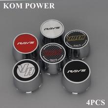 KOM 4pcs 63/59mm clip volk rays logo sticker center cap for rims cover hub dust hood trim hub cap accessory centro tapas llantas цена