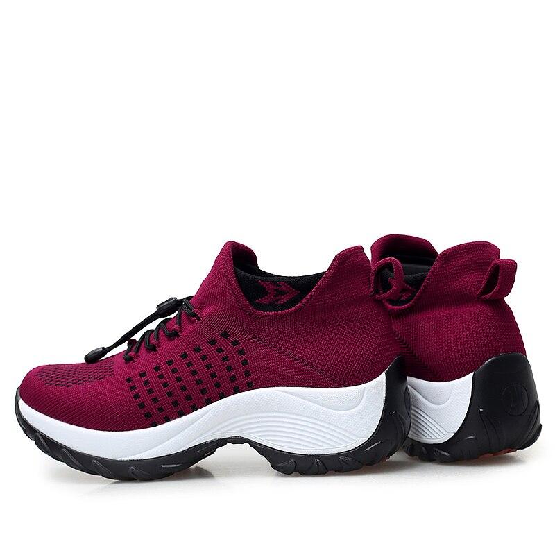 mesh breathable women casual shoes korean platform ladies comfortable sneakers high increasing female moccasins vulcanized woman (35)